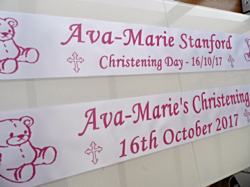 Personalised Christening Banners x 2